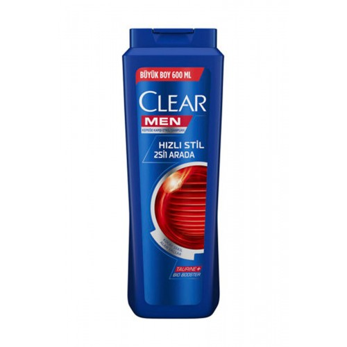 CLEAR ŞAMPUAN MEN HIZLI STİL 2 Sİ 1 ARADA 600 ML