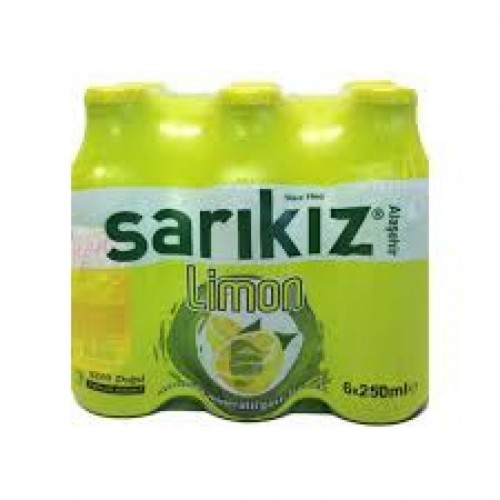 SARIKIZ LİMON AROMALI SODA 250 ML 6 LI