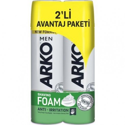 ARKO TIRAŞ KÖPÜĞÜ MEN ANTİ IRRITATION 2 X 200 ML.