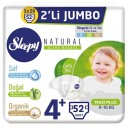 SLEEPY NATURAL 4+ NO 2 Lİ JUMBO 9-16 MAXİ PLUS 52 Lİ