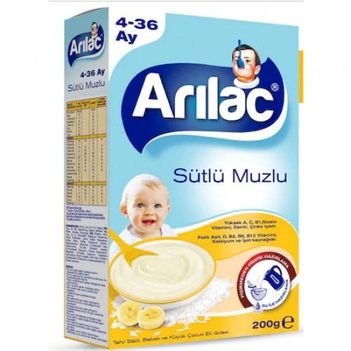 ARILAC SÜTLÜ MUZLU 4-36 AY 200 GR.